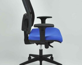 Silla operativa Herpesa, modelo 4M, lateral, azul